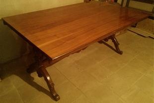 میز ناهارخوری چوبی 8 نفره کار آبنوس اصفهان