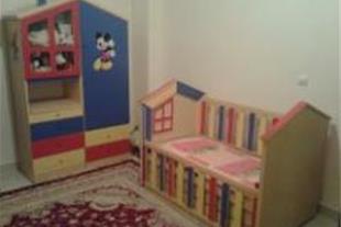 فروش ست تخت وکمد کودک طرح کلبه - 1