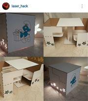 جعبه چند منظوره( میزو صندلی، چراغ خواب، جعبه تزئین
