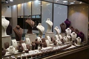 تولید ویترین طلا و جواهر فروشی