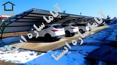 پارکینگ و سایبان پارکینگ - اجرای سازه پارچه ای - 1