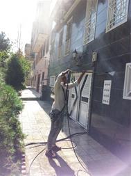 نماشویی ، نظافت ساختمان با طناب راپل ، راپل کار - 1