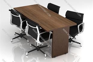 میز کنفرانسی مستطیل ساده