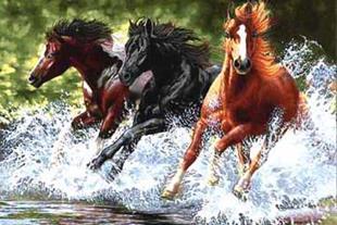 نخ و نقشه فرش فرار اسب های وحشی تبریز