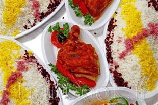 قبول سفارش غذای نذری توسط تشریفات مجالس نیلای
