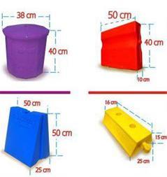 جدول و جداکننده پلاستیکی