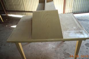 میز مطالعه دو نفره کاملاًًً چوبی