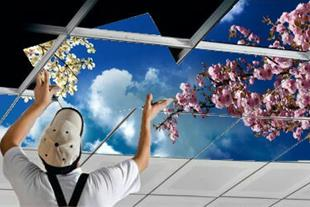 آسمان مجازی-سقف آسمان-تایل طرحدارسقفى