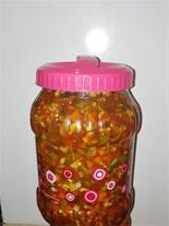 فروش ترشی گوجه ( سالاد زمستانی ) - تمرهندی
