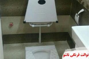 توالت فرنگی دیواری تاشو آسانا ، توالت فرنگی سیار