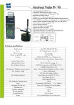 دستگاه سختی سنج دیجیتال کمپانی TIME چین مدل TH140
