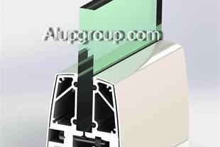 نرده ی آلومینیومی و شیشه ایی (طرح یک)