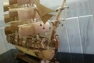ساخت کشتی های چوبی تزیینی