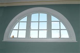 ساخت انواع پنجره قوسی upvc