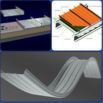 پوشش سقف بدون درز زیپ پانل شینگل یا کالزیپ