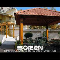 آلاچیق چوبی - ساخت سازه های چوبی فضای باز