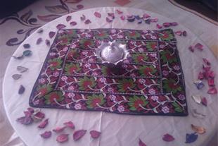 دوخت انواع رومیزی جانمازی و روکوسنی سنتی