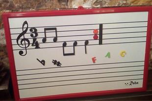 تخته وایت برد جهت تمرین تئوری موسیقی