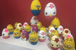 فروش عمده تخم مرغ سفالی عروسکی عید