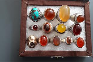 انگشترهای دست ساز وسنگ های قیمتی - 1