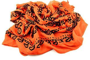 فروش شال و روسری های رنگی ، مشکی