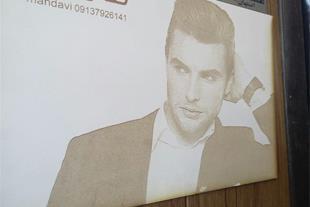 حکاکی عکس و چهره روی چوب و پلکسی
