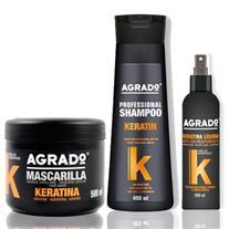 پک صاف کننده مو آگرادو Agrado مدل کراتین درمانی