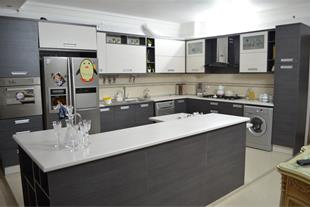 طراحی  ساخت و نصب کابینت آشپزخانه مدرن قم