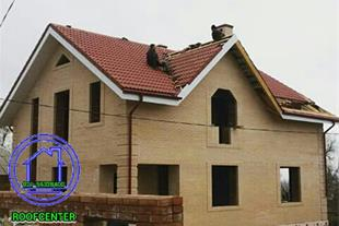 سقف شیبدار ویلایی، پوشش سقف شیروانی، اجرای خرپا - 1