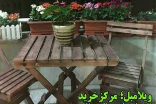 فروش میز و صندلی تاشو چوبی