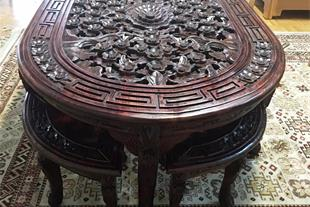 ست میز جلو مبل تمام چوب تمام منبت خارجی