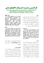 کارآفرینی و مدیریت کسب و کار با MindMapper