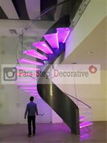 طراحی و ساخت انواع پله گرد ، پله دوبلکس ، پله پیچ