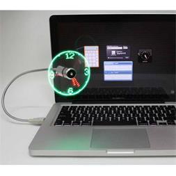فروش پنکه و نمایشگر ساعت USB Clock Fan - 1
