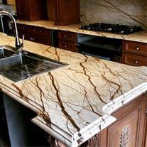 سنگ طبیعی کانتر تاپ سنگ کابینت سنگ آیلند آشپزخانه