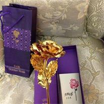 شاخه گل رز طلا نانو 24 عیار