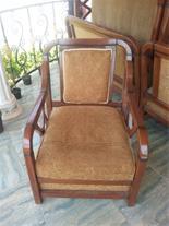 صندلی راحتی چوب و مخمل فروشی