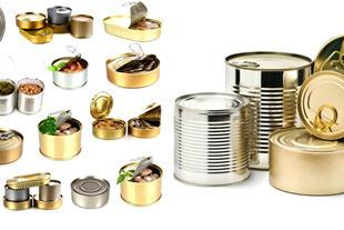 انواع نمونه خام قوطی فلزی قبل چاپ