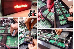 آموزش نصب و راه اندازی تابلو ثابت و روان LED
