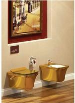 توالت فرنگی وال هنگ تمام طلایی لاکچری وارداتی