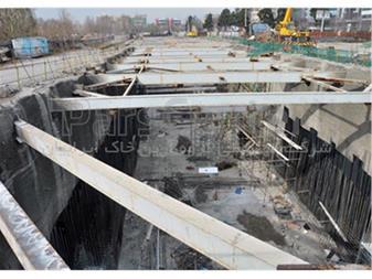زهکشی و آب بندی تونل مترو چهارراه مولوی - 1