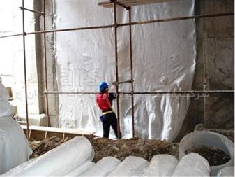 آب بندی نقاط بحرانی گود ساختمانی با ورق PVC - 1