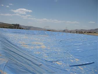 ساخت استخر ذخیره آب با ورق ژئوممبران آبی - 1