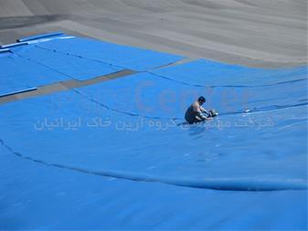 ساخت استخر ذخیره آب با ورق ژئوممبران - 1