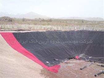ساخت استخر کشاورزی با ورق ژئوممبران در کردان کرج - 1