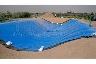 ساخت استخر کشاورزی با ورق ژئوممبران آبی در طالقان