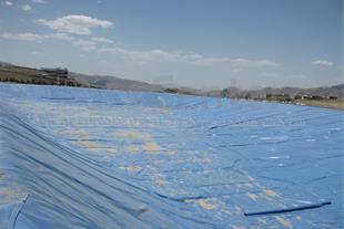 ساخت استخر ذخیره آب با ورق ژئوممبران آبی