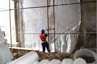 ایزولاسیون رطوبتی فونداسیون با ژئوممبران PVC