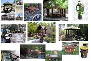فروش انواع مبلمان شهری سیمانی، میز و صندلی سیمانی