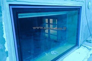 شیشه استخر، نصب آکرلیک استخر ، آکرلیک شفاف استخر